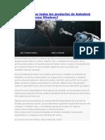 Cómo Eliminar Todos Los Productos de Autodesk Desde Un Sistema Windows