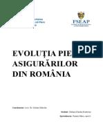Evolutia Pietei Asigurarilor Din Romania