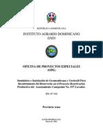 Especificaciones Tecnicas Reservorio Lavador
