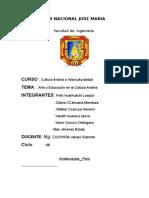 educacion en la cultura andina