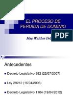 Perdida de Dominio-Mag.Walther Delgado Tovar