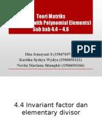 matriks polinomial