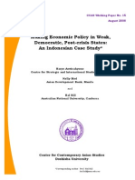 Aswicahyono Dkk 2008 - Making Economic Policy in Weak, Democratic, Post-Crisis States an Indonesian Case Study