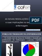 As Novas Resolucoes Do Cofen e Suas Implicacoes No Exercicio Da Enfermagem