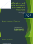 General Principles and Spesific Methods of Musculoskeletal Treatment