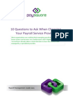 10 Questions to Ask When Choosing Your Payroll Service Provider
