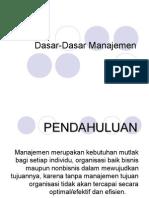 (1) Dasar-dasar Manajemen