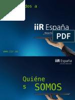 Presentación de bienvenida de IIR Espana.
