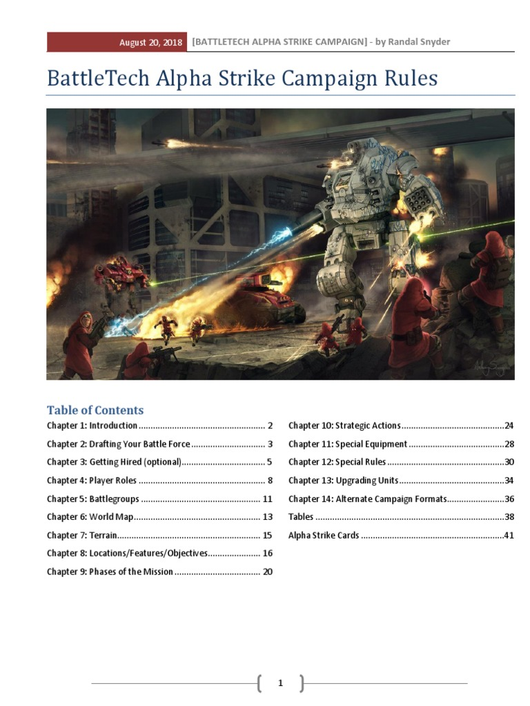 Battletech: Alpha Strike - Campaign Rules | Battle Tech | Infantry