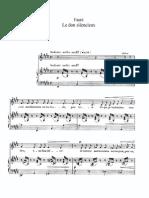 Gabriel Fauré - Le Don Silencieux, Op.92