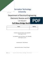 Lab No 06 Full Wave Bridge Rectifier