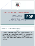 Cost Estimating & Budgeting