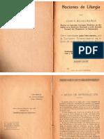 Nociones de liturgia - Juan Ruano - 1939