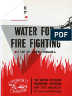Water for Fire Fighting