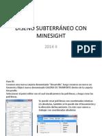 Diseño Subterráneo Con Minesight 2014 2