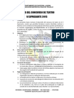 BASES DEL V EXPRESARTE 2015 (7 CATEGORIAS)+FICHAS DE INCRIPCION.