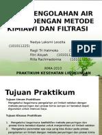 Penjernihan Air Filtrasi Kel 3b Ppt