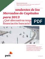Temas Candentes de Los Mercados de Capitales Para 2013