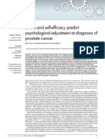 Stress and Self-efficacy Predict Psychological Adjustment at Diagnosis of Prostate Cancer