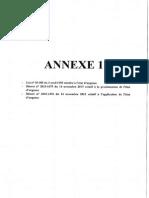 Annexes à la circulaire Intérieur-Préfets