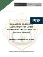 Reglamento Del Decreto Supremo 1151