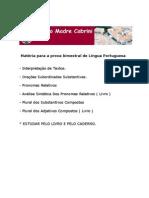 MatériaparaaprovabimestraldeLínguaPortuguesa