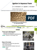 Shock Mitigation in Aqueous Foam