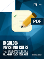 10 Golden Investing Rules