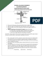Standard Operating Procedure distillation