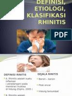 Definisi, Etiologi, Klasifikasi Rhinitis (1) (1)