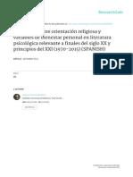 Orientaciones Religiosas y Bienestar Personal