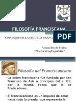Filosofía Franciscana -Alejandro de Hales