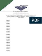 Listado de entrega der tables en UNERG - Notilogía