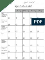 Subject Checklist