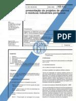 NBR_8.418 - Apresentação de Projetos de Aterros de Residous Industriais Perigosos