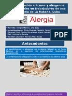 Sensibilización a Ácaros y Alérgenos Ocupacionales en Trabajadores