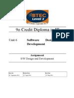 Unit 06 Assignment - Software Design Development 13.14
