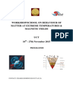 Workshop on Behavaviour of Matter at Extreme Temperatures and Magnetic Fields
