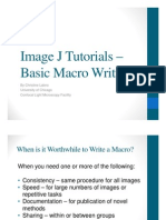 Image J Tutorials -- NEW Macro Writing