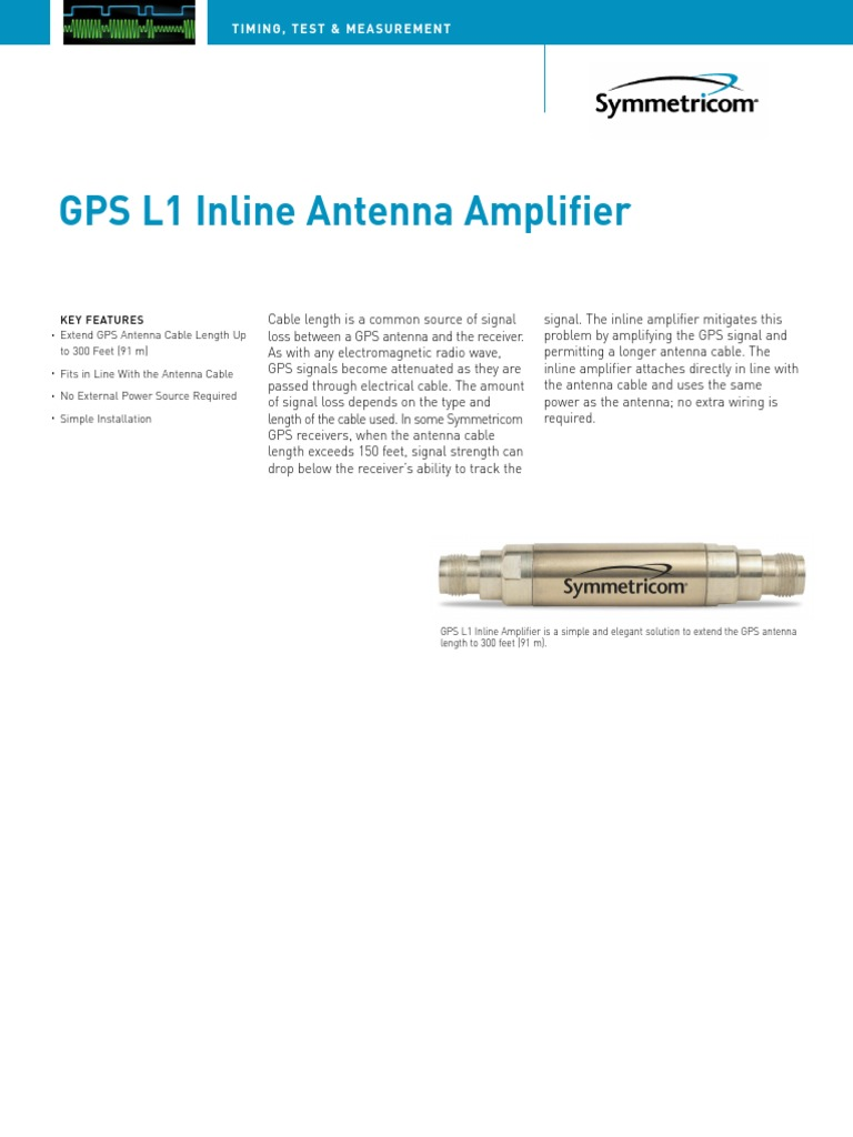 DS 150-200-GPS L1 Inline Antenna Amplifier | Cable | Antenna