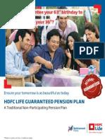 Hdfclife Guaranteed Pension Plan