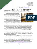 TETRIX at ESU News Release