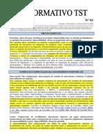 Informativo TST Nº 093