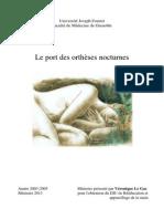 Mémoire DIU 2013 Le Gac- Orthèse Nocturnes