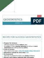 Geostatistics Lesson 1