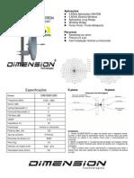 Antena Disco 29dbi Dimension - Dim-5800-29d