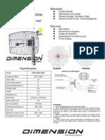 Antena Grade 22dbi Dimension - Dim-5800-22g