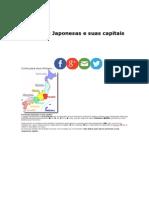 Províncias Japonesas e Suas Capitais