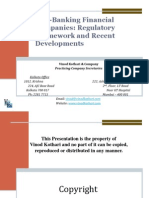 Non Banking Financial Companies Regulatory Framework and Recent Developments
