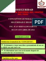 Clase 1 - Conceptos Generales de Seguridad e Higiene